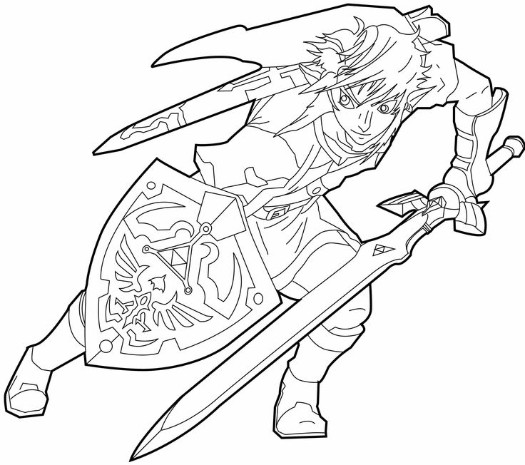 free zelda online coloring pages - photo#28