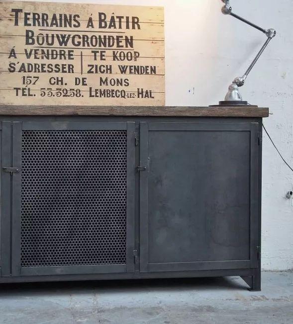(2) Cómoda Vajillero Mueble Madera (pinotea) Y Chapa Industrial! - $ 22.000,00 en Mercado Libre