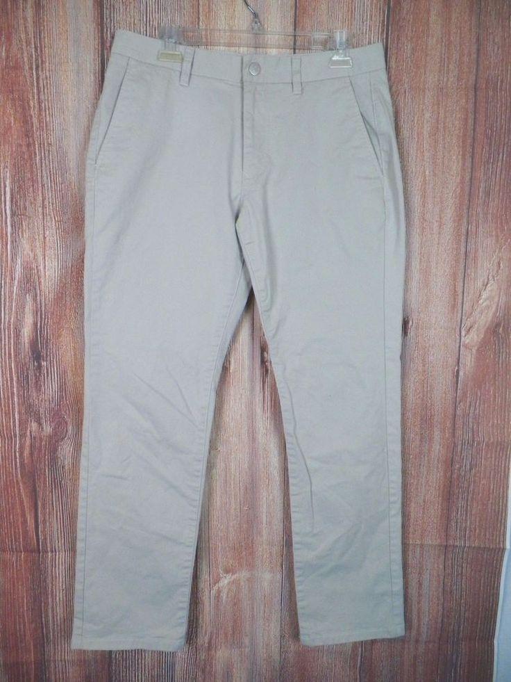 Bonobos Mens Stretch Washed Slim Chinos Straight Pants Size 32x30 Khaki NWOT #12 #Bonobos #KhakisChinos