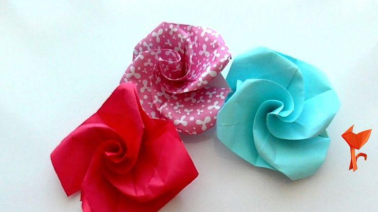 Как сделать бумажный цветок за 5 минут? Оригами роза легко и просто