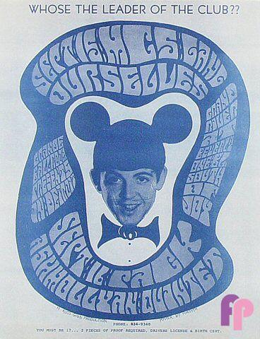 Grande Ballroom 9/15 & 16/67 Artist:  Donnie Dope     Performers:  MC5 (9/15)  Gang  Pack  Ashmollyan Quintet  Ourselves (9/16)  Pack  Ashmollyan Quintet   mickey mouse, beatles, mccartney