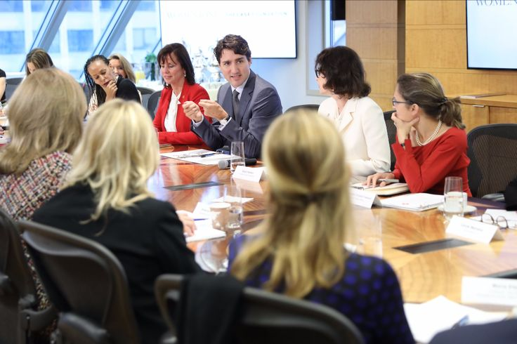 "Justin Trudeau on Twitter: ""Starting the day with a roundtable in Washington, DC, talking about solutions to the challenges women & girls face every day with #WomenOne. https://t.co/T6quqtDJR6"""