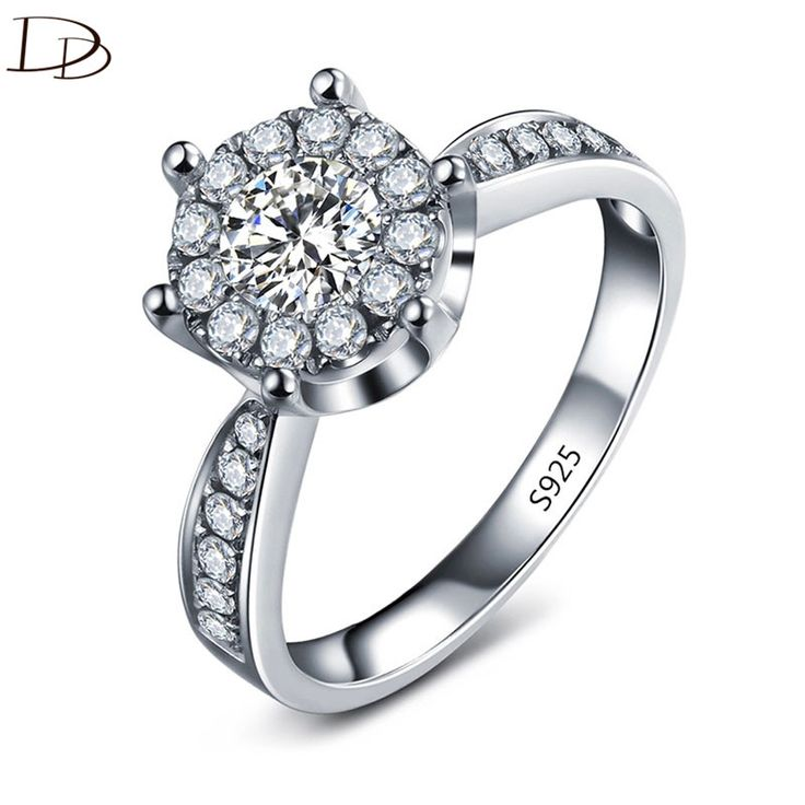 fashion White gold plated wedding engagement ring for women AAA CZ diamond jewelry vintage rings bijoux femme anel gifts DD093