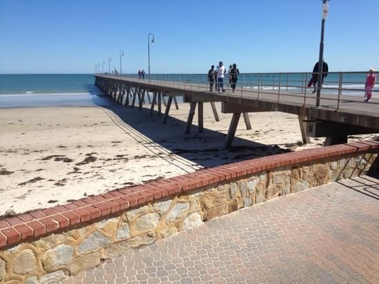 'Glenelg Jetty #Adelaide #Australia my sister lives a short walk to Glenelg Beach it is lovely clean and fresh on the Spencer Gulf' said previous pinner • Adelaide's beaches