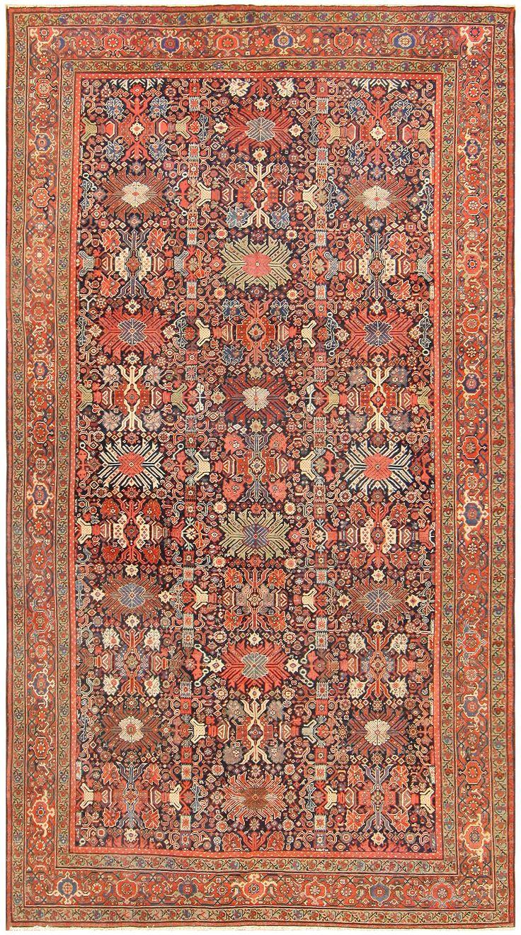 Antique Persian Farahan Rug 50005 Detail