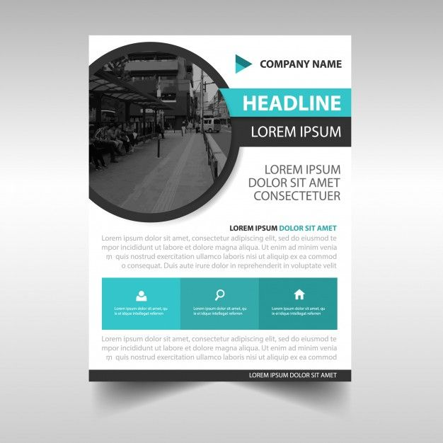 Business Flyer Template With Circular Shape