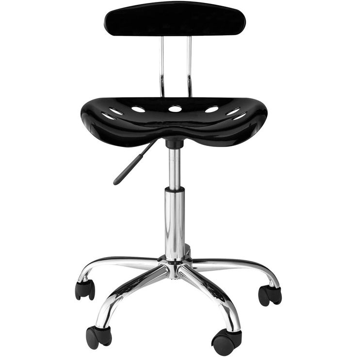 Comfort - Chrome Plated Metal / Molded Plastic Chair - Black