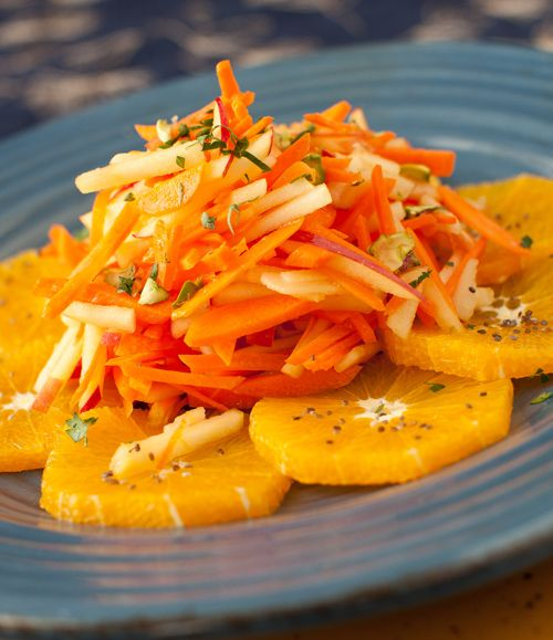 Carrot, Apple & Orange Salad