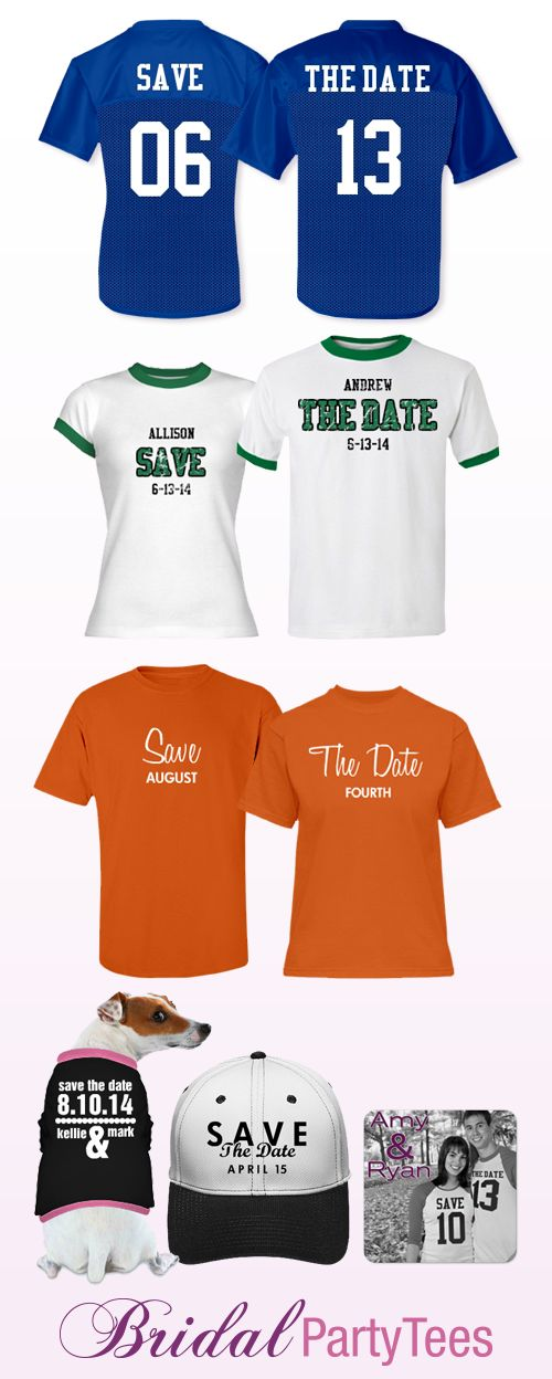 Custom Save the Date Jerseys and Shirts