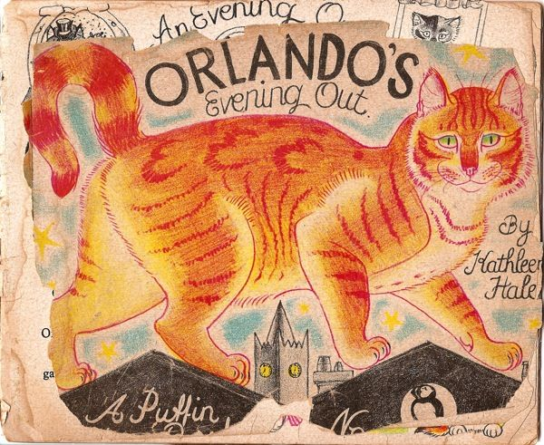 One of Kathleen Hale's wonderful illustrations for her stories of Orlando, the marmalade cat.