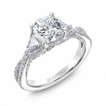 Scott Kay Namaste Twist Diamond Semi-Mount 7/8ctw