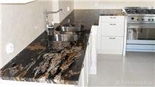 Magma Gold Granite Price | Magma Gold Black Granite Slabs, Brazil Black Granite
