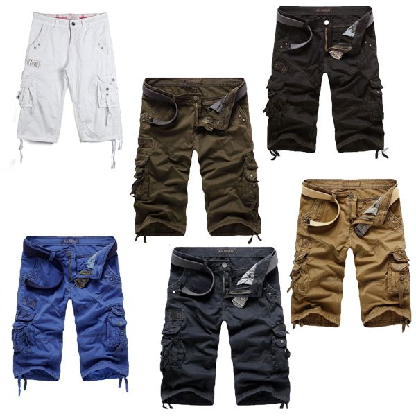 Men's Casual Multi-pockets Large Size Cargo Shorts