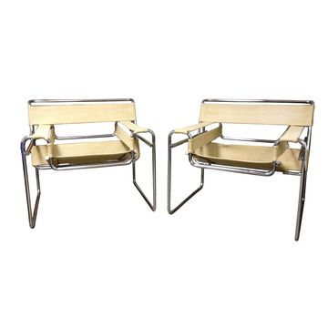 An iconic design created by Marcel Breuer in 1925-26, while teaching at the famed Bauhaus school, the Wassily Chair defines early modern innovation