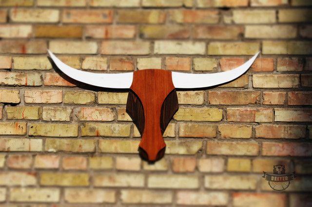 Голова Буйвола на стену - декор для дома, бара и ресторана из дерева ручной работы можно купить или заказать в Киеве в столярной мастерской Beaver's Craft - деревянные элементы для декорирования - 385128720