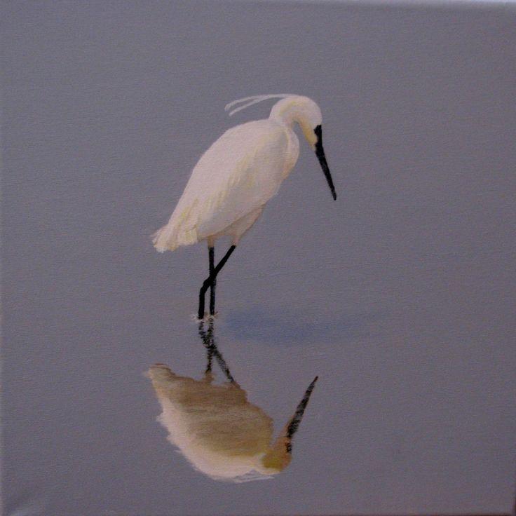 Egret reflecting (CeliaJ)