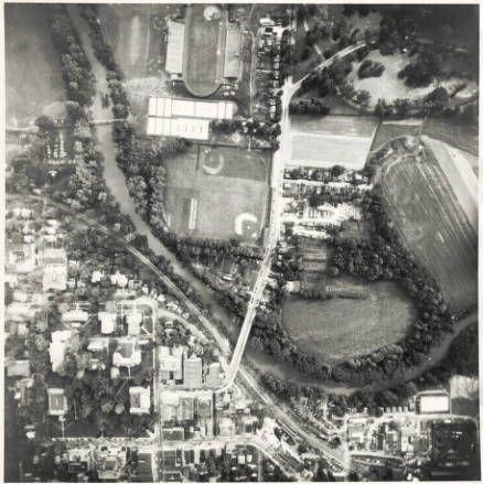 ohio university campus and athens ohio aerial photo ca 1954 1959
