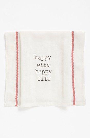 Happy wife happy life - how cute!