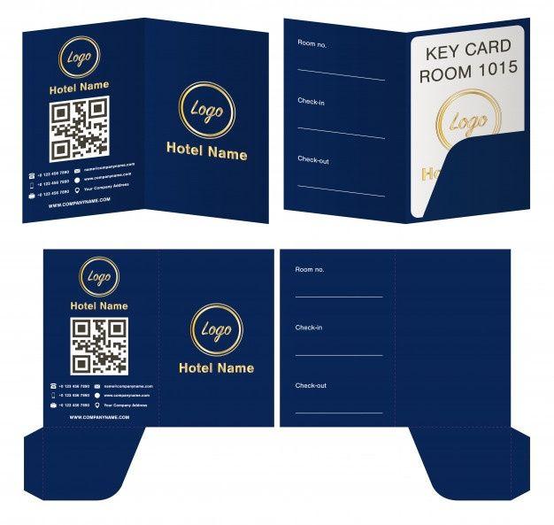 Hotel Key Card Holder Folder Package Template In 2021 Hotel Key Cards Hotel Card Business Card Template Word