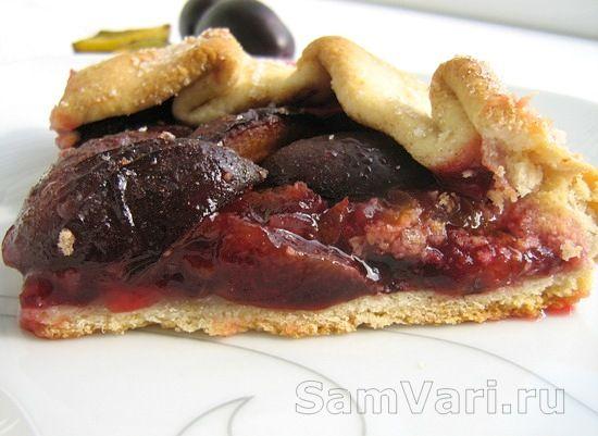 галета со сливами рецепт/biscuit with plums