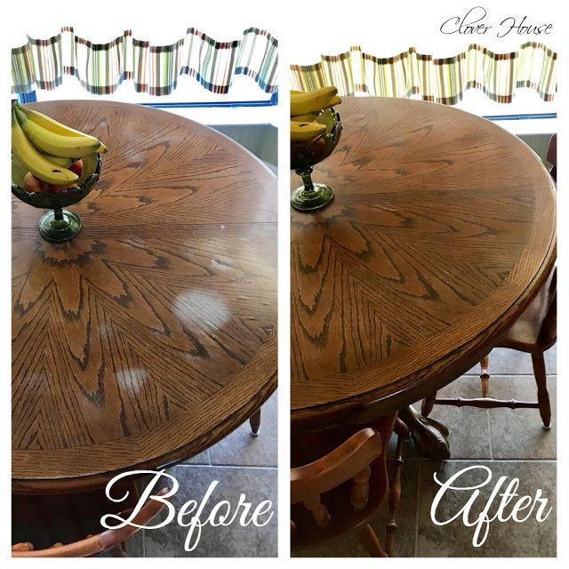 Clover House Removing White Heat Marks From Your Table Top