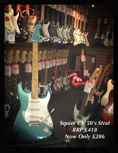 Squier Classic Vibe Stratocaster '50s Ex Display #fender #squier #strat #stratocaster #guitar