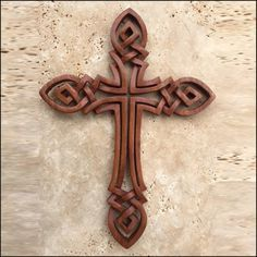 CR-21 Celtic Cross- Open Knot | Celtic, Viking and Lamp Woodcraft Carvings