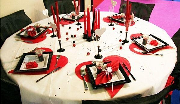 décoration de table mariage rouge