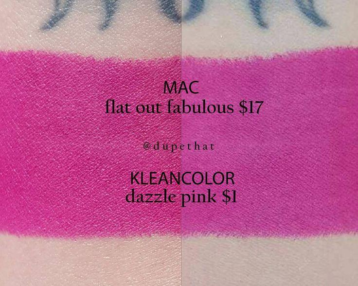 MAC Flat Out Fabulous = Kleancolor Dazzle Pink #dupe