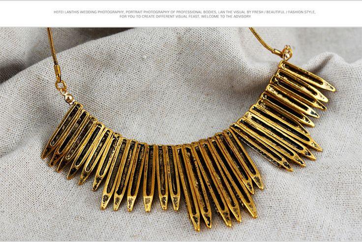 Antique Fashion Alloy Bullet Shape Bib Statement Necklace Wholesale - US$2.34 - Choker necklace,bib necklace,women collar ,pandora necklace ,cheap statement necklace shop at Costwe.com