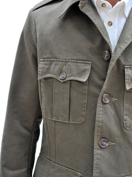 Cotton Tailored Safari Jacket http://geraldwebster.com/collections/mens-apparel/products/cotton-tailored-safari-jacket
