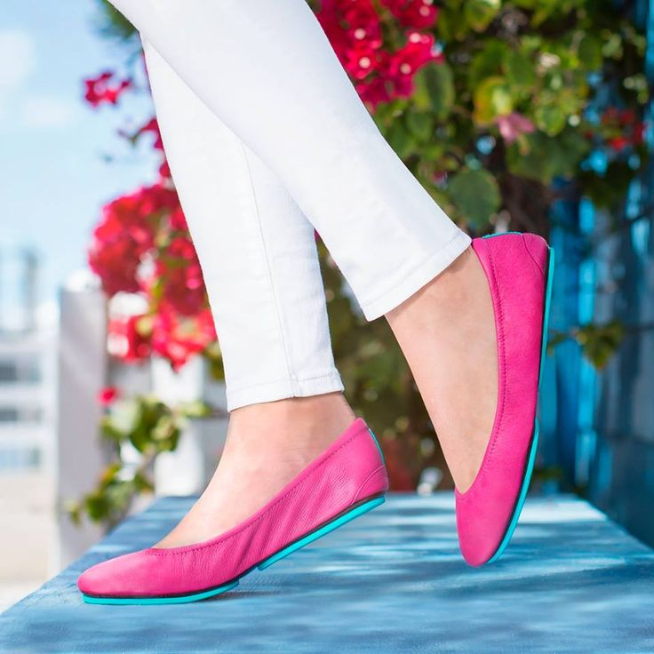 "WOMEN'S TIEKS (Fuchsia) -- Sizing: W5 - W13 -- Tieks come in a RAINBOW of Colors & Finishes = View the Full, ""Color Bar"" On-page!!... -- DETAILS: 100% Premium, Soft, Full-Grain Leather, Non-Elasticized, Cushioned back, Non-skid Rubber Soles & Cushioned Instep... -- NOTE: Fuchsia is a Full-Grain MATTE Leather = Details on the Various Leathers are Listed On-page = READ!!... -- Link to Listing Pg = http://tieks.com/fuchsia.html"