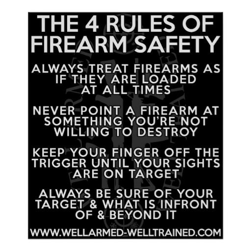 4 cardinal rules of firearm safety
