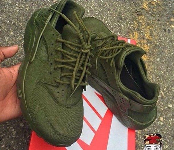 shoes olive green huarache