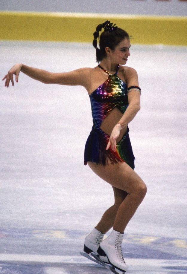 Katarina Witt in 1986   26 Horrifyingly Awesome Figure Skating Fashions From The '80s