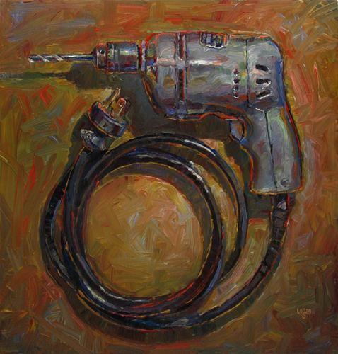 """Dads Drill"" - Original Fine Art for Sale - © Raymond Logan"