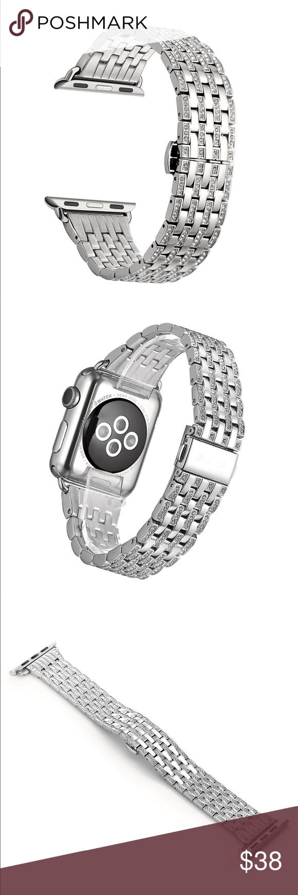 38mm Alloy Crystal Rhinestone Diamond Watch Band Apple Watch not included. Unique luxury design,world first Crystal alloy watch band for apple watch Apple Watch band with metal adapter, replace 38mm Apple watch band easily and directly,and also a link removal kit was sent to adjust to the suitable size. Personalize your iWatch with this refined strap compared to Apple ones,but more attractive cost;more important,it is unique Durable and elegant Crystal and stainless steel,pretty dressy…