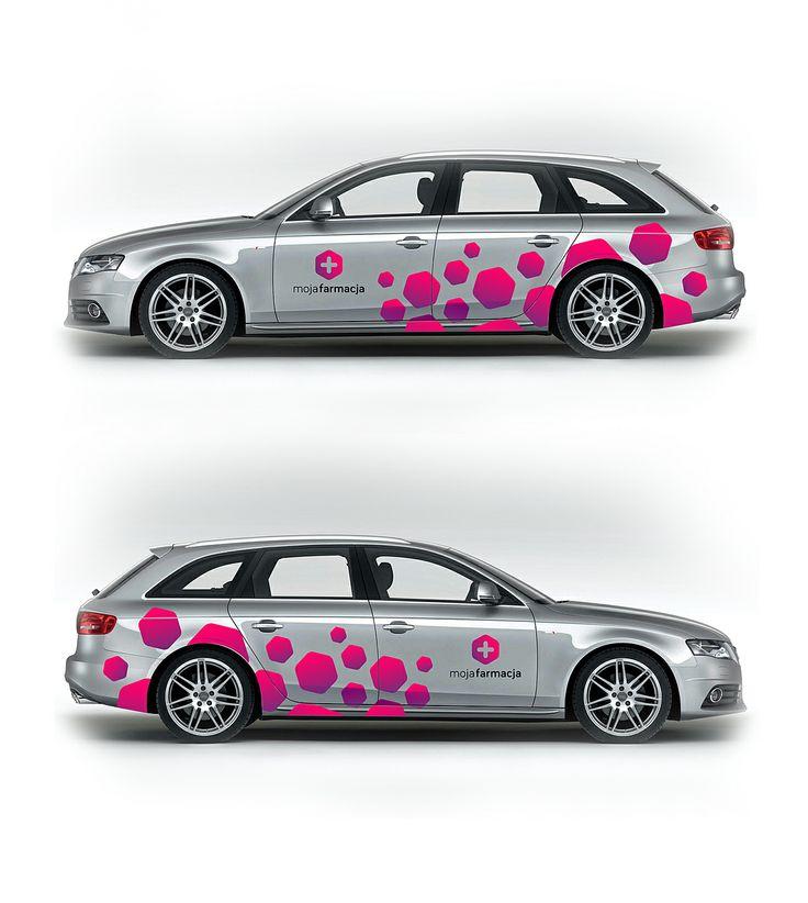 Logotype and car livery for Grupa Moja Farmacja. #logo #logotype #id #identity #design #synkro #synkrointeractive #carbone #mojafarmacja #grupamojafarmacja #lodzdesign #lodz
