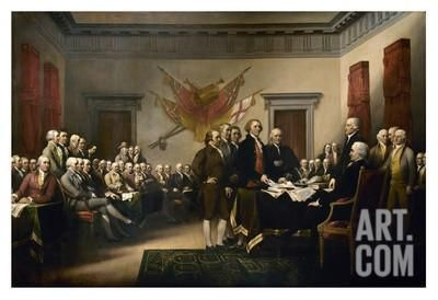 Declaration of Independence Art Print by John Trumbull at Art.com