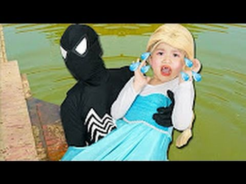 Spiderman Frozen Elsa #19 Anna Venom Kidnap | Superman love Elsa Anna Sn...
