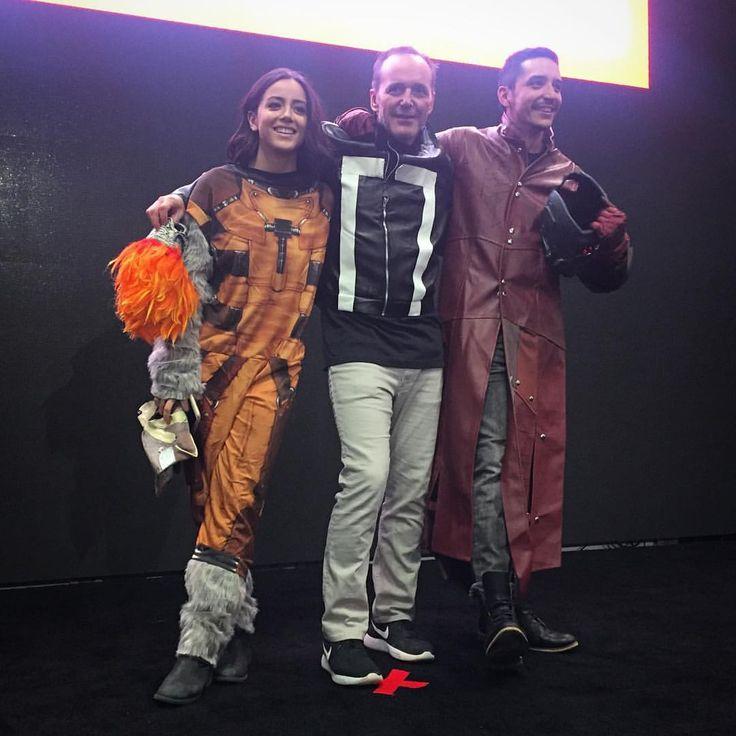 Chloe, Clark, and Gabriel Chloe as Rocket. Clark as Ghost rider. Gabriel as Star Lord.