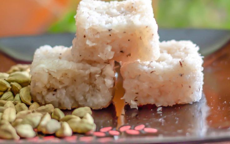 Coconut Burfi is a classic and traditional recipe of an Indian sweet that is prepared during festivals and special occasions.