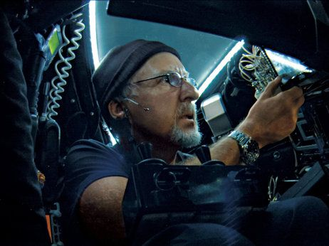 Descending into the Mariana Trench: James Cameron's Odyssey. The movie has not been released but you can  listen to the interview!