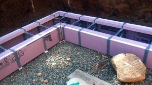 The foothold icf footing system concrete homes icf for Foam basement forms