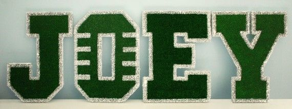 Football Field Children's Custom Wall Letters