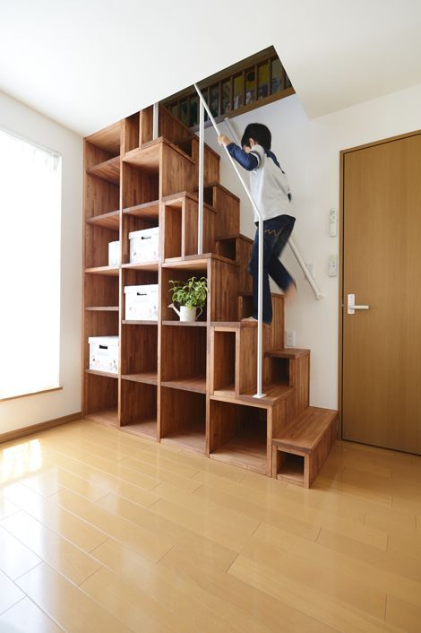 Look look! I'm so good at it! ~ Loft stairs wi…