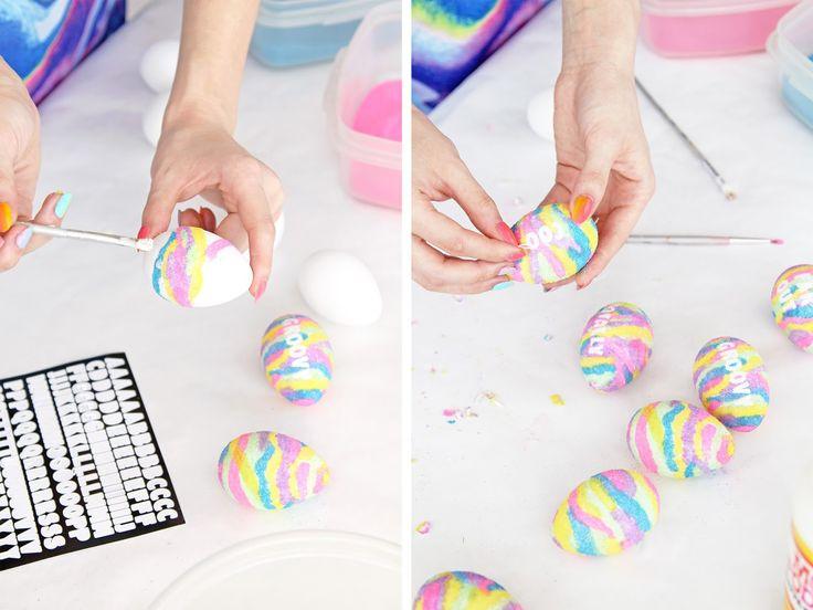 DIY Spring Flower Covered BackpackDIY Emoji Bean Bag ChairRainbow Marbled Pop Tart RecipeDIY Typography Sand Art Easter Eggs Weekend Round-Up I Spy!'90s Sleepover Party DIY Magic 8 Ball Balloons
