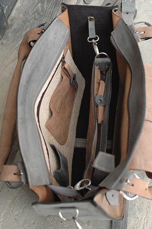 Sac à bandoulière en cuir avec embrayage sac a main par ladybuq
