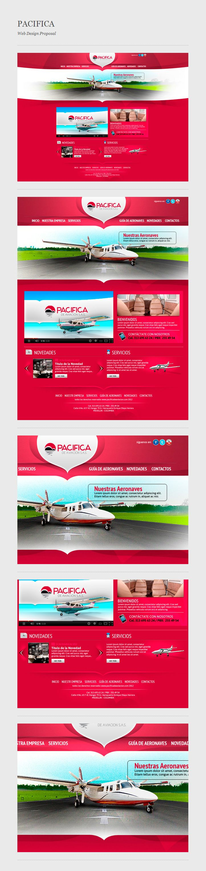 web design proposal for a Colombian agency h2a Publicidad