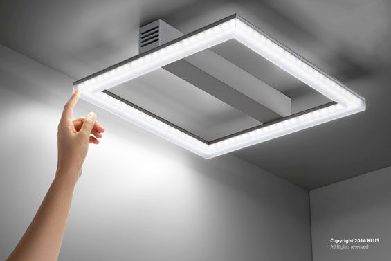 KLUS lighting fixture made from the BOX and GIP profiles with GK cover